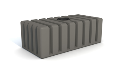 2000 litre slate grey under deck tank - Tall Under Deck Tank