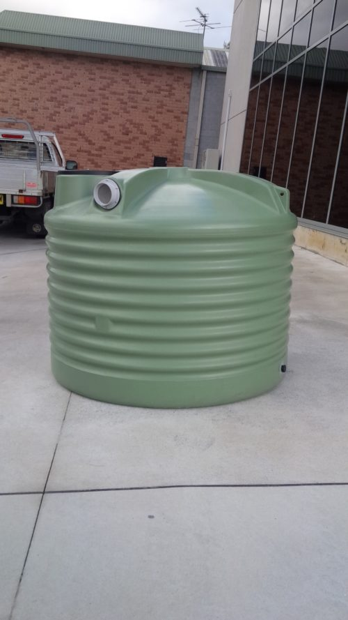 1000 Litre SQUAT ROUND POLY TANK – 2200 Gallon