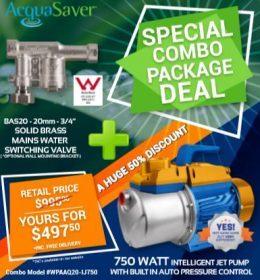 BAS20 Acquasaver valve and jet pump deal